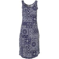 Womens Lush Luxe Bandana Print Sleep Dress