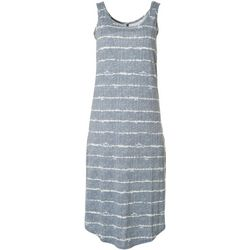 Jaclyn Intimates Womens Lush Luxe Tie Dye Stripe Sleep Dress