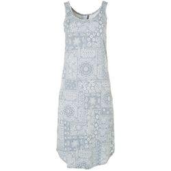 Jaclyn Intimates Womens Lush Luxe Bandana Sleep Dress