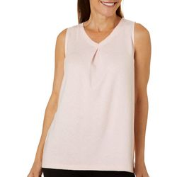 Jaclyn Intimates Womens Whisperluxe Heathered Pajama Top
