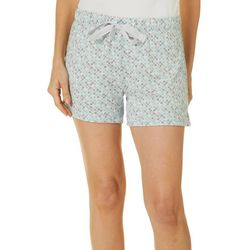 Womens Geometric Print Pajama Shorts