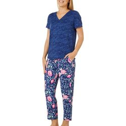 Be Yourself Womens Malvin Floral 2 Piece Pajama Set