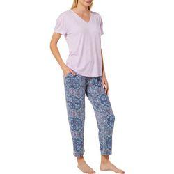 Jaclyn Intimates Womens Bandana Print Pajama Pants Set