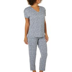 Jaclyn Intimates Womens Lea Ditsy Print Pajama Pants