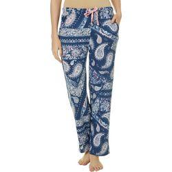 Jaclyn Intimates Womens Paisley Print Pajama Pants