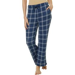 Jaclyn Intimates Womens Sargassose Plaid Print Pajama Pants