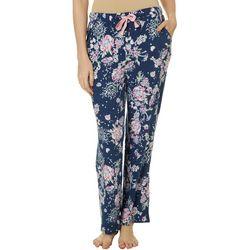 Jaclyn Intimates Womens Kimmy Floral Print Pajama Pants
