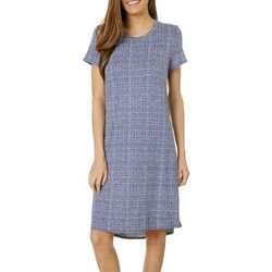 Jaclyn Intimates Womens Lush Luxe Geo Sleep Dress