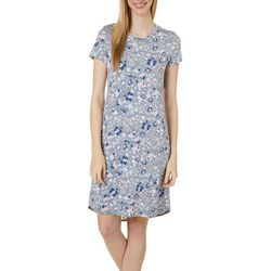 Jaclyn Intimates Womens Lush Luxe Floral Sleep Dress