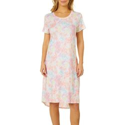 Jaclyn Intimates Womens Lush Luxe Colorful Sleep Dress