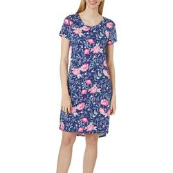 Jaclyn Intimates Womens Lush Luxe Peony Sleep Dress