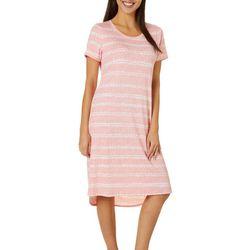 Jaclyn Intimates Womens Lush Luxe Shibori Petals Sleep Dress