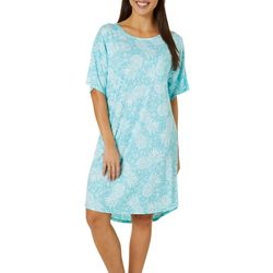 Jaclyn Intimates Womens Lush Luxe Pineapple Sleep Dress