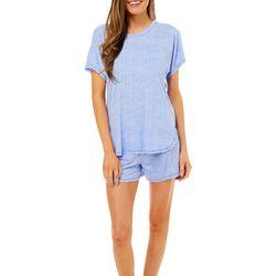 Jaclyn Intimates Womens 2-pc.Crosshatch Pajama Shorts Set