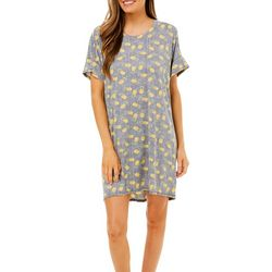 Jaclyn Intimates Womens Pineapple Print Nightgown