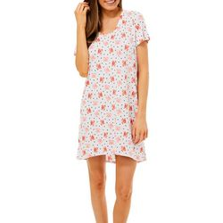 Jaclyn Intimates Womens Crab Print Nightgown