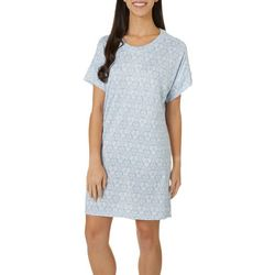 Jaclyn Intimates Womens Whisperluxe Floral Sleep Dress