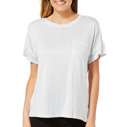 Jaclyn Intimates Womens Pocket High-Low Pajama Top