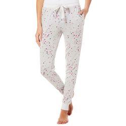 Jaclyn Intimates Womens Polka Dot Jogger Pajama Pants