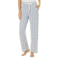 Jaclyn Intimates Womens Damask Print Pajama Pants