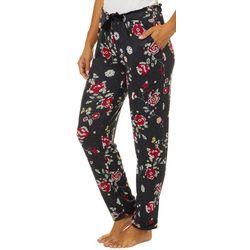 Jaclyn Intimates Womens Floral Print Slim Leg Pajama Pants