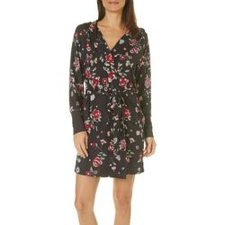 Jaclyn Intimates Womens Floral Print Short Robe