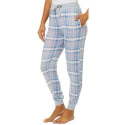 Jaclyn Intimates Womens Tartan Plaid Jogger Pajama Pants