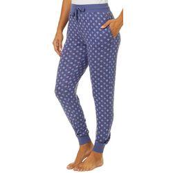 Jaclyn Intimates Womens Petal Print Jogger Pajama Pants