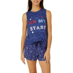 Jaclyn Intimates Womens Oh My Stars Pajama Shorts Set
