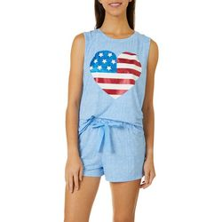 Womens Oh My Star Pajama Shorts Set