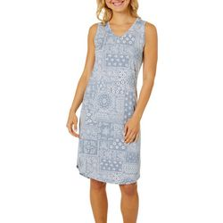 Womens Whisper Luxe Paisley Sleep Dress