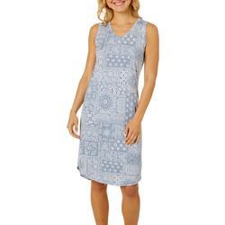 Womens Whisper Luxe Paisley Sleep Dress