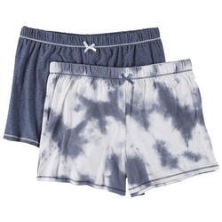 Womens 2-Pk. Tie Dye Printed Pajama Shorts