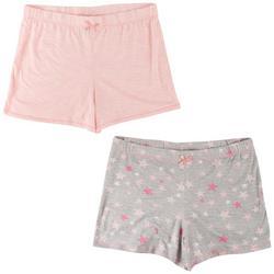 Womens 2-Pk. Leopard Printed Pajama Shorts