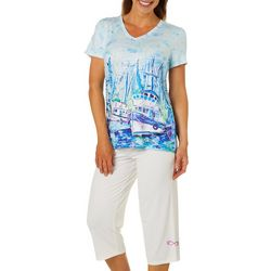 Leoma Lovegrove Womens 2-pc. Moody Blue Pajama Set