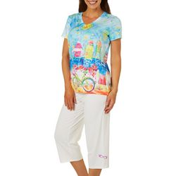Leoma Lovegrove Womens 2-pc. Happy Place Pajama Set