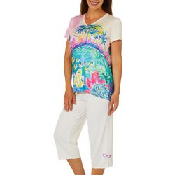 Leoma Lovegrove Womens 2-pc. Spring Break Pajama Set