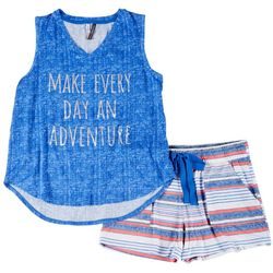 Jaclyn Intimates  Every Day An Adventure Pajama Shorts Set