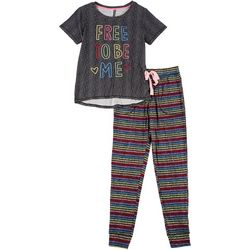 Derek Heart Juniors Free To Be Me Jogger Pajama Set