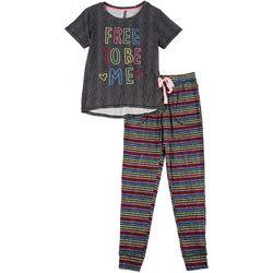 Derek Heart Juniors Free To Be Me Jogger Pajama Set