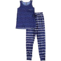 Womens Tie Dye Stripe Pajama Jogger Set