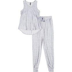 Womens Triangle Print Pajama Jogger Set