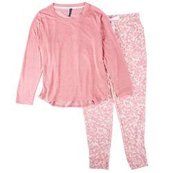 Jaclyn Intimates Womens Tie-Dye Pajama Jogger Set