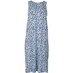 Jaclyn Intimates Womens Luxe Leopard Print Sleep Dress