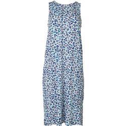 Womens Luxe Leopard Print Sleep Dress