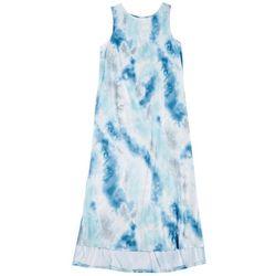 Jaclyn Intimates Womens Tie Dye Luxe Tank Dress