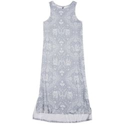 Jaclyn Intimates Womens Paisley Luxe Tank Dress