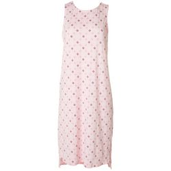 Jaclyn Intimates Womens Lush Diamond Print Sleep Dress