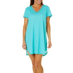 Karen Neuburger Womens Dots Short Sleeve Nightgown