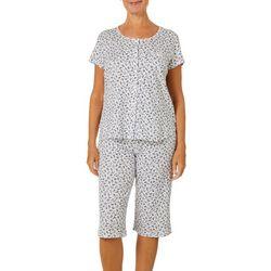 Karen Neuburger Womens Ditsy Print Capris Pajama Set